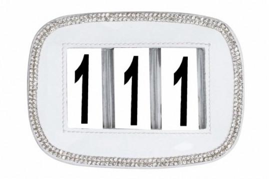 Nummerlapp med Strass