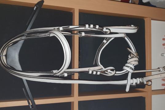 Vitt träna stol ponny0