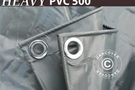 Presenning 6 x 10 m PVC 500 g/m² Grå 3285:-