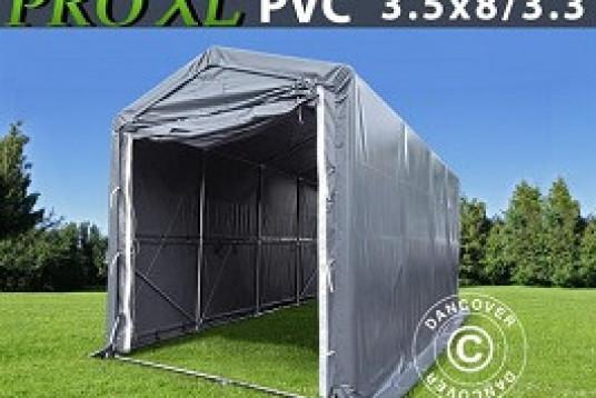 Lagerhall / Båthall PRO XL 3,5 x 8 x 3,3 x 3,94 m PVC Grå