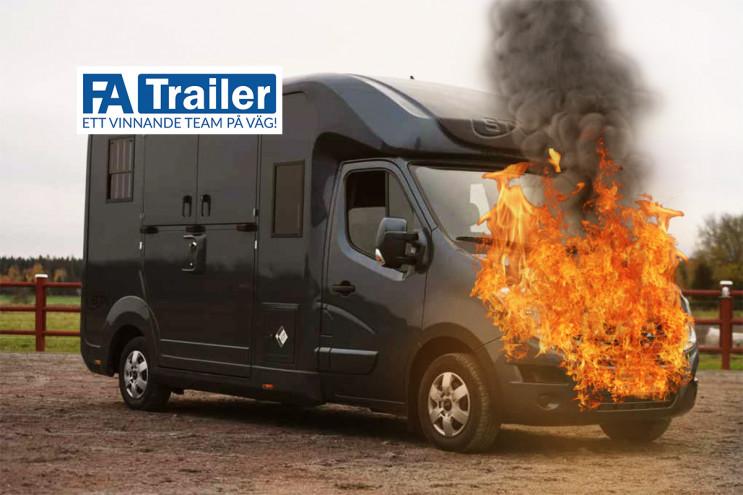 FA-Trailer brandsäkrar nu ALLA hästlastbilar med Fogmaker!